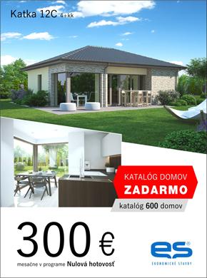 Ekonomické stavby - dom Katka 12C - za 300 eur v programe nulová hotovosť.  Objednaj si katalóg zdarma - viac ako 600 domov.